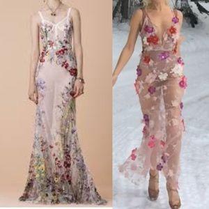 McQueen inspired custom sheer flower dress S